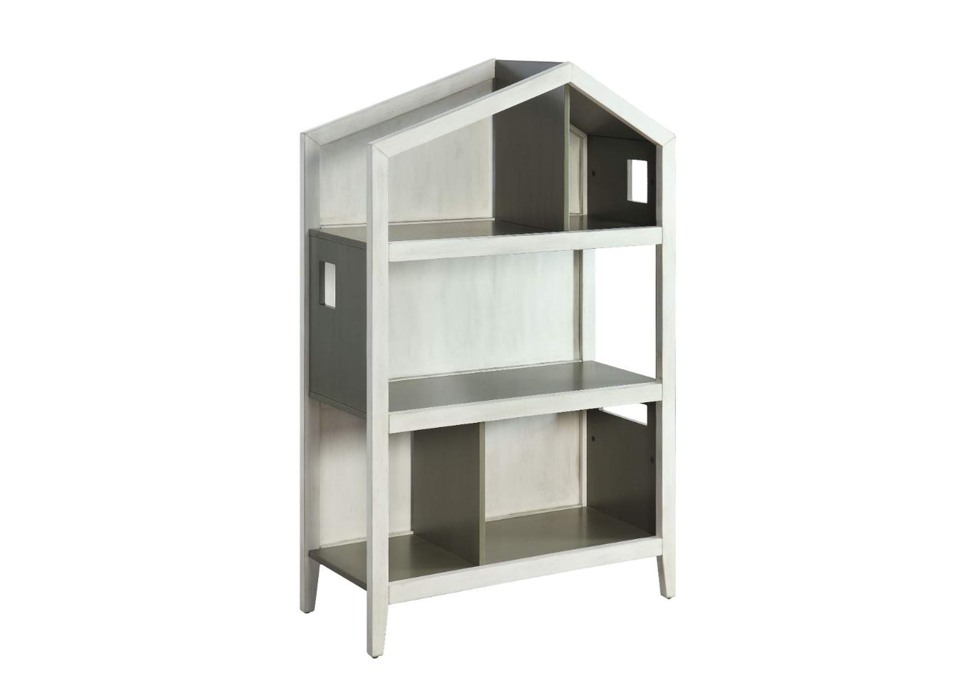 Doll Cottage White/Gray Bookcase,Acme