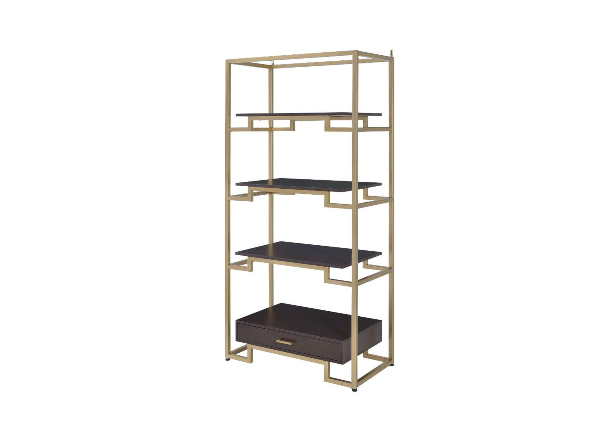 Yumia Gold Bookshelf,Acme