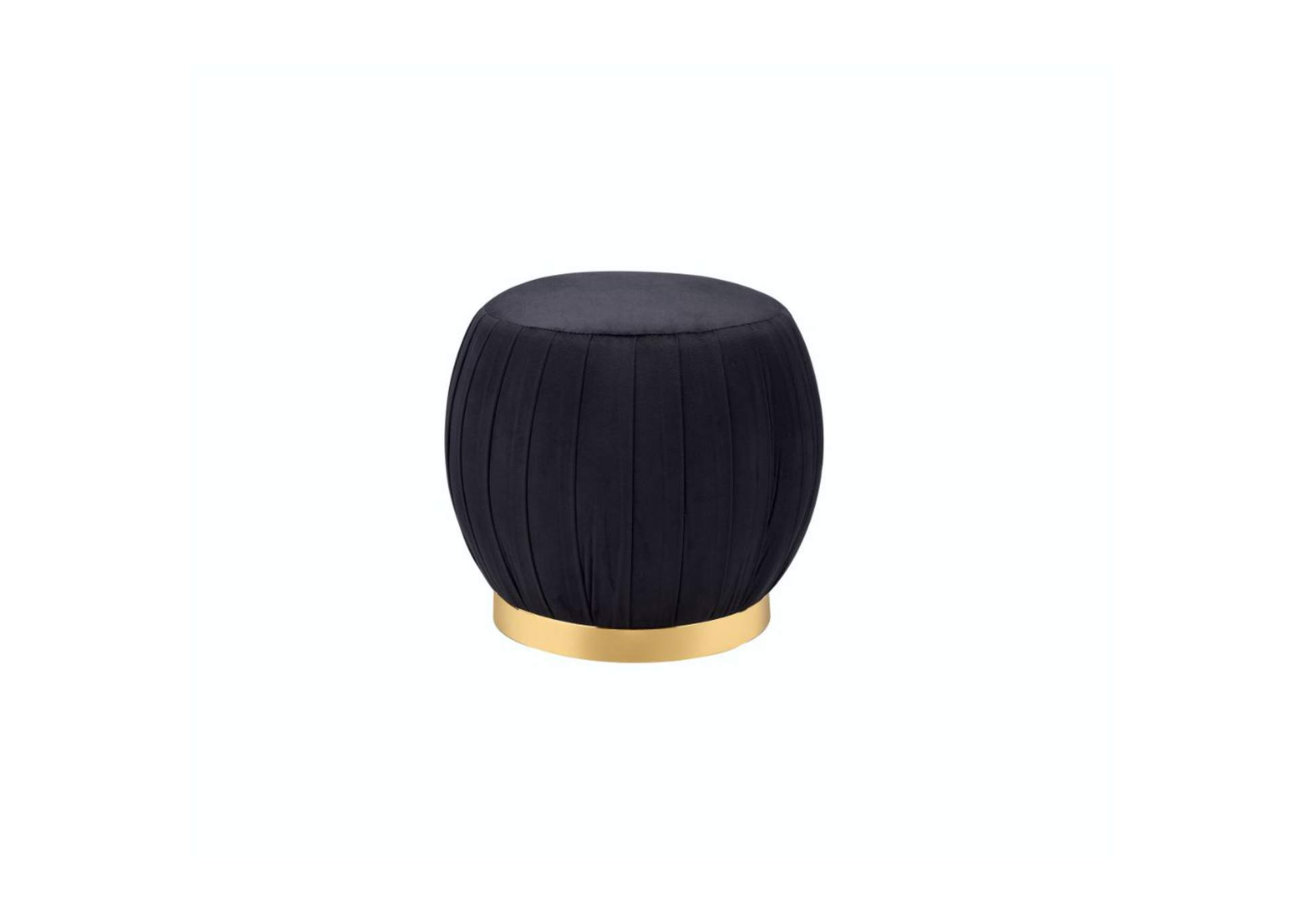 Zinnia Black Gold Ottoman,Acme