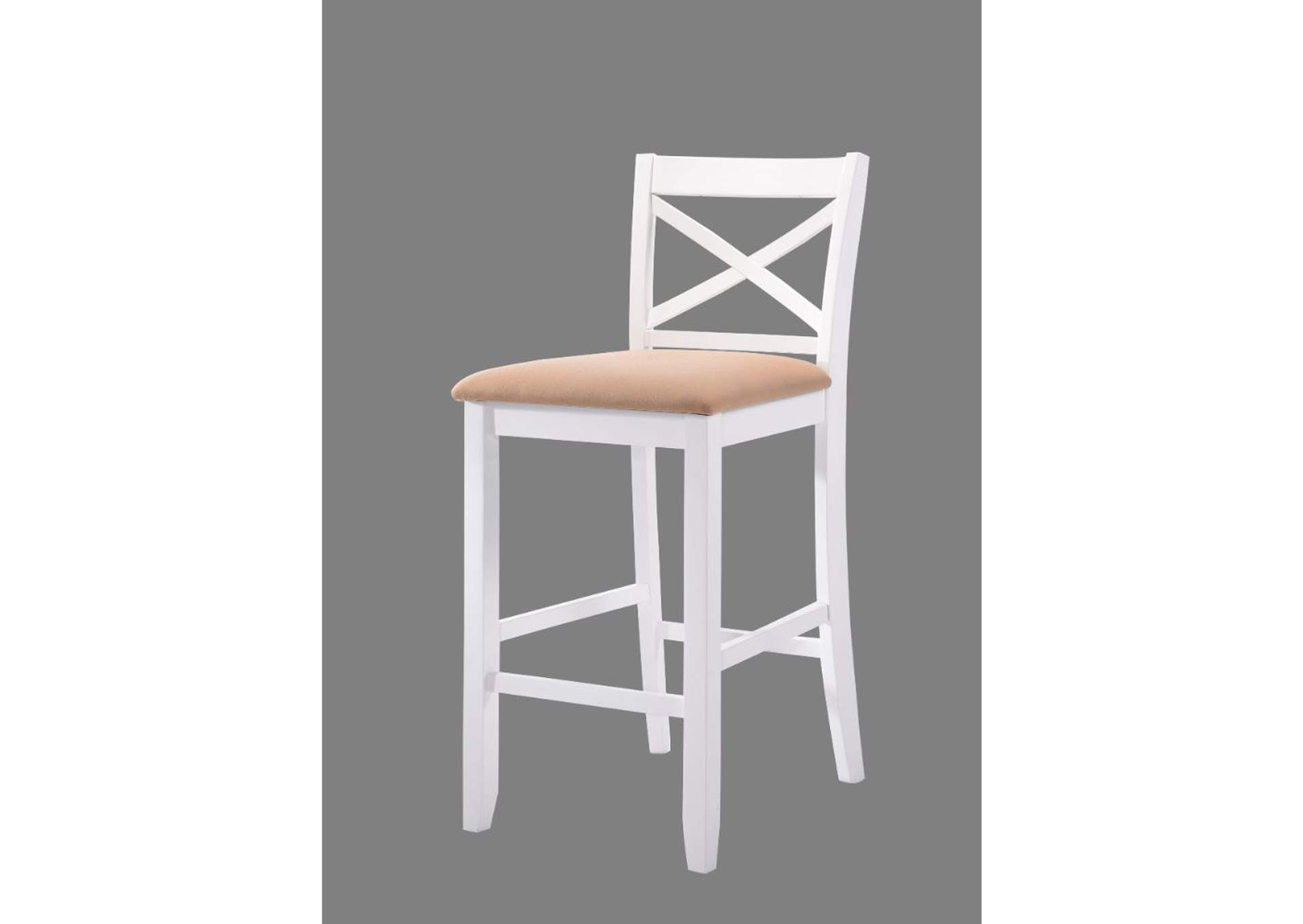 Tobie White Bar Chair (Set of 2),Acme