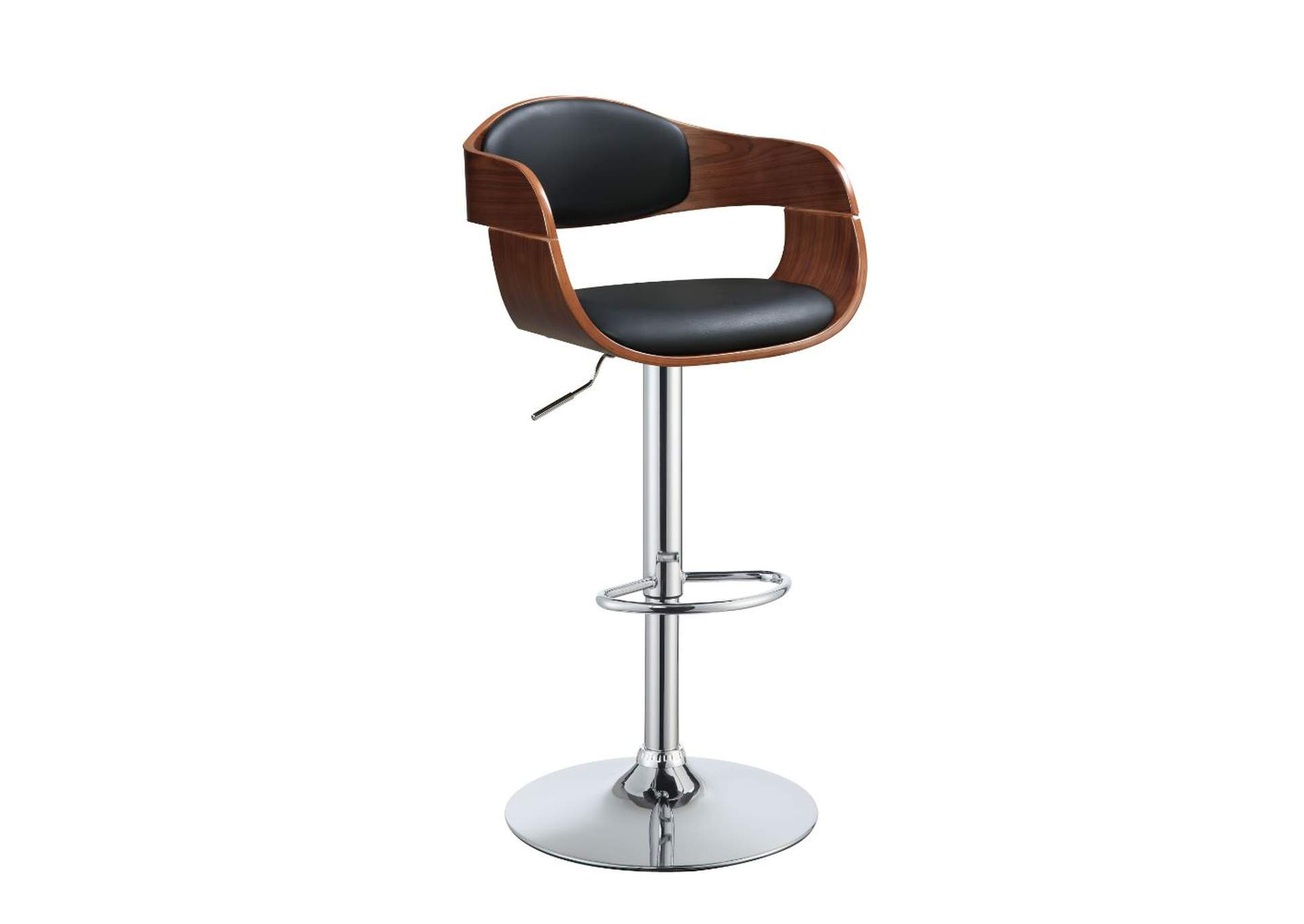 Camila Black/Walnut Adjustable Stool,Acme