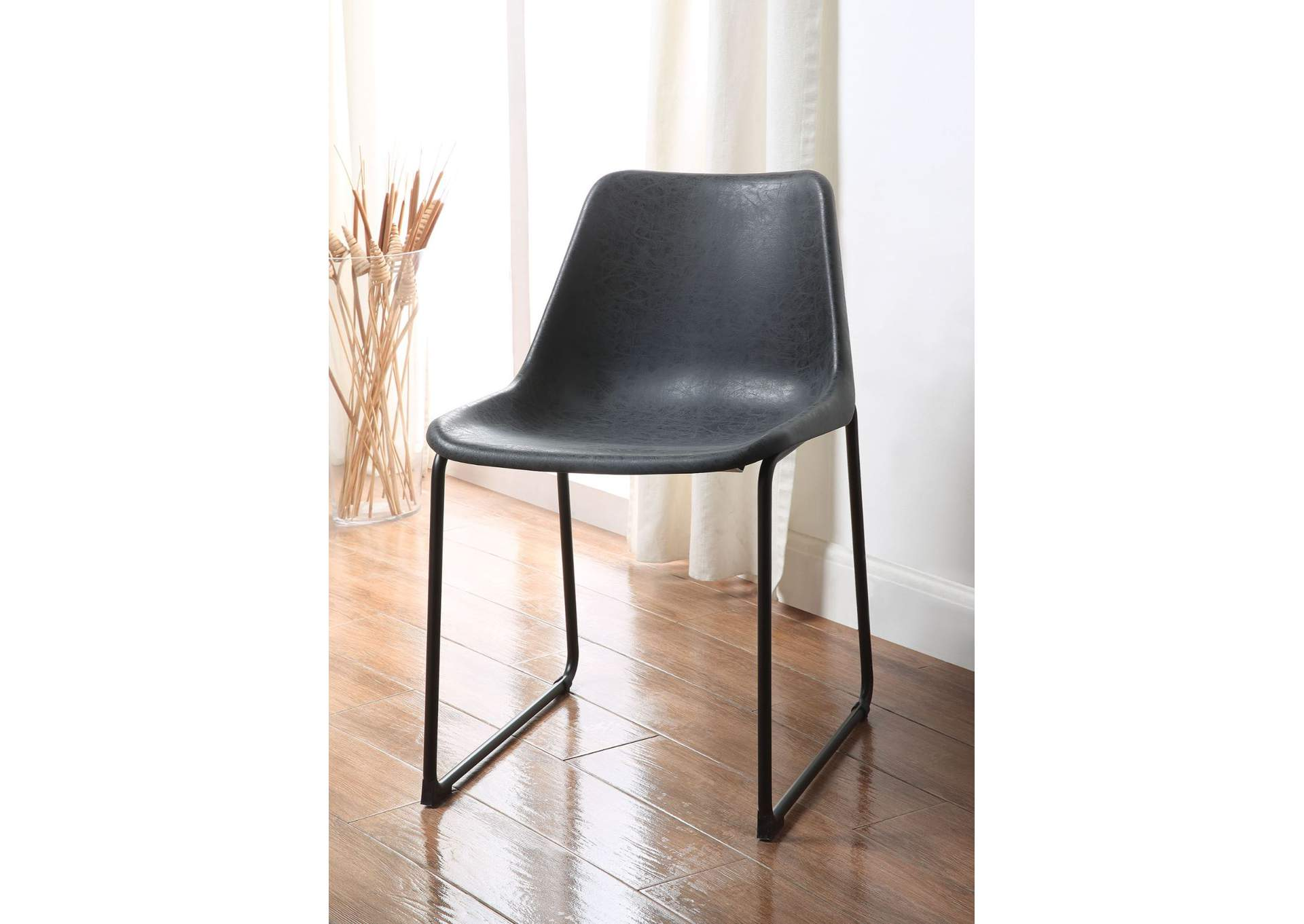 Valgus Vintage Black/Black Side Chair (Set of 2),Acme