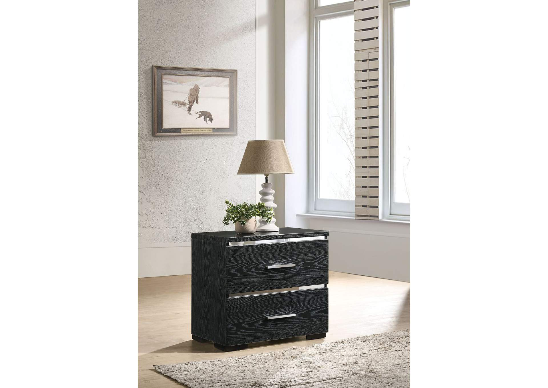 Laleh Black (High Gloss) Accent Table,Acme