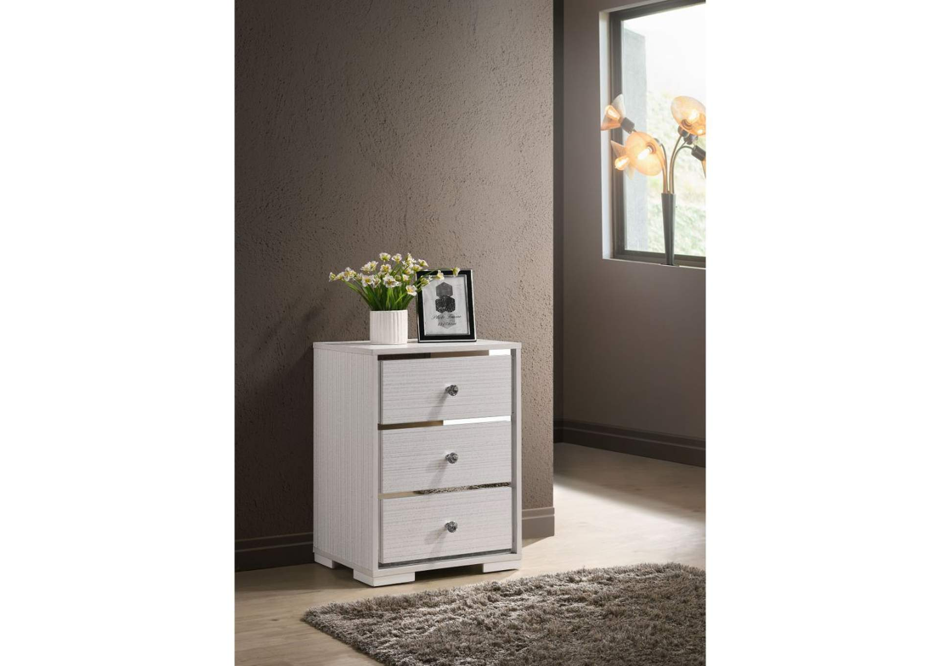 Sakura Cream Accent Table,Acme