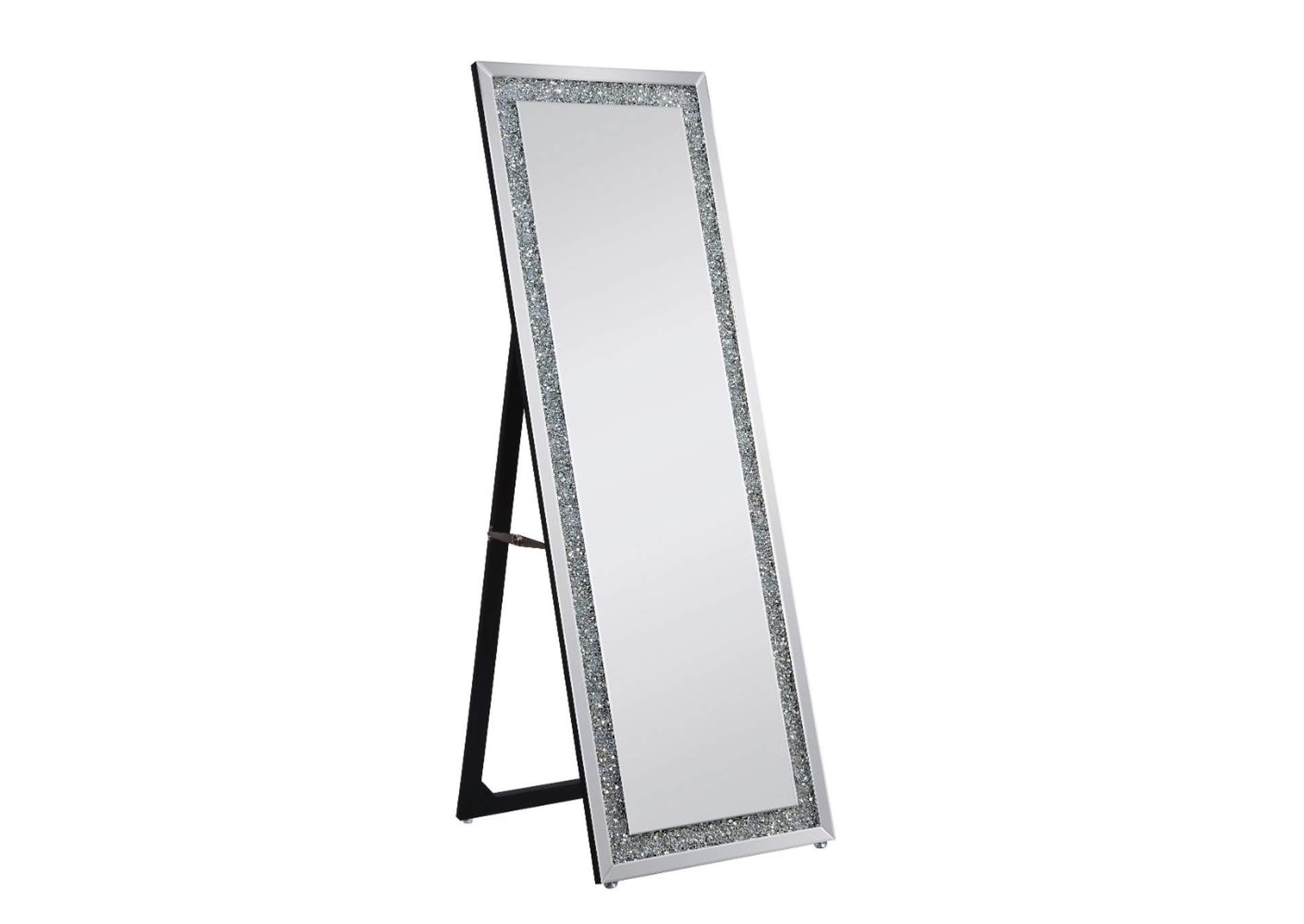 Noralie Mirrored & Faux Diamonds Accent Mirror,Acme