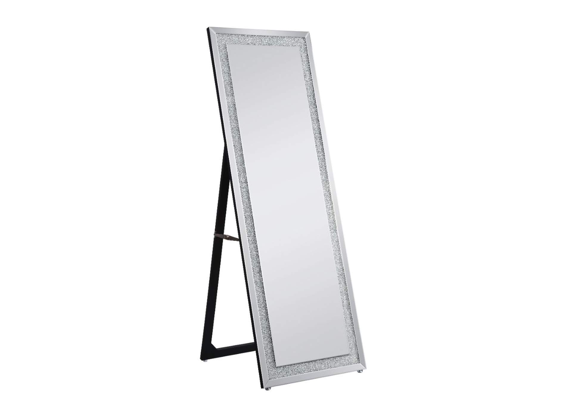 Nowles Mirrored & Faux Stones Accent Mirror,Acme