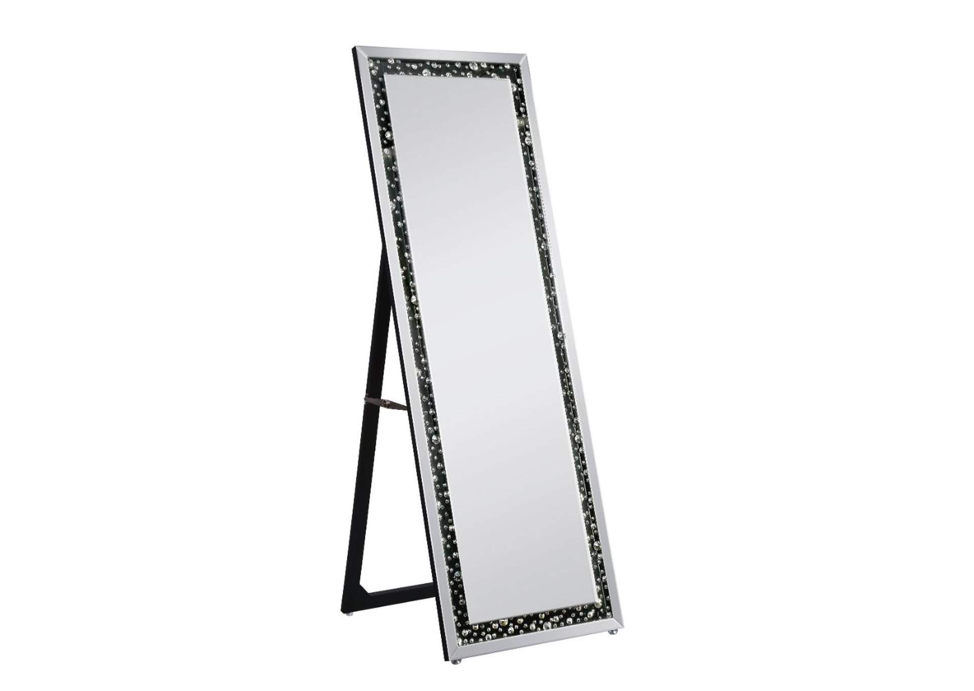 Noor Mirrored & Faux GemStones Accent Mirror,Acme