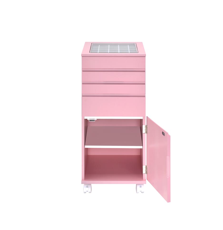 Nariah Pink Jewelry Armoire,Acme