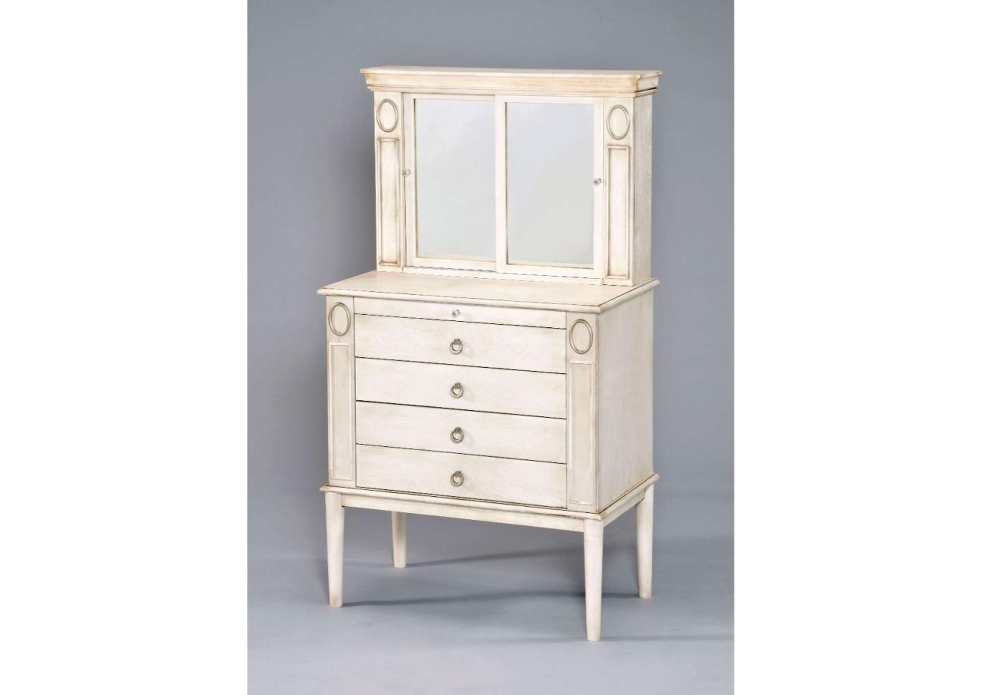 Leven Antique White Jewelry Armoire,Acme
