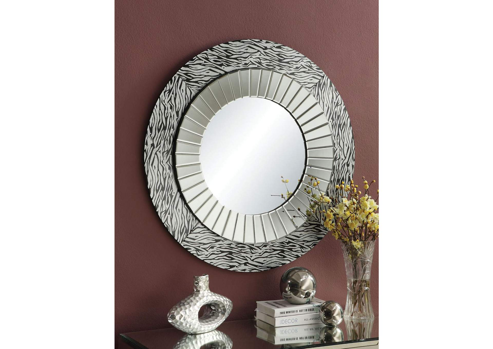 Amara Mirrored Accent Mirror,Acme