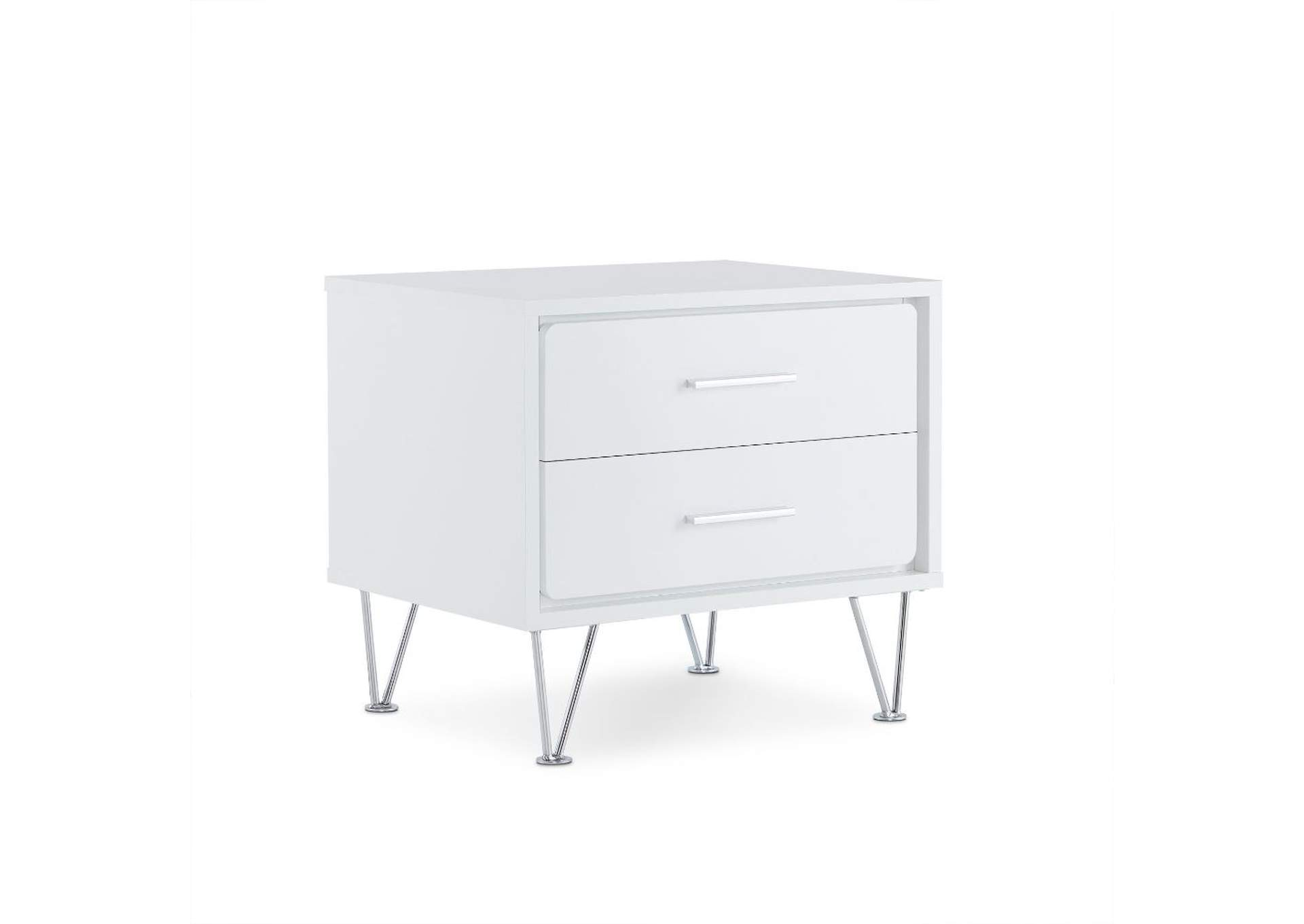 Deoss White Nightstand,Acme