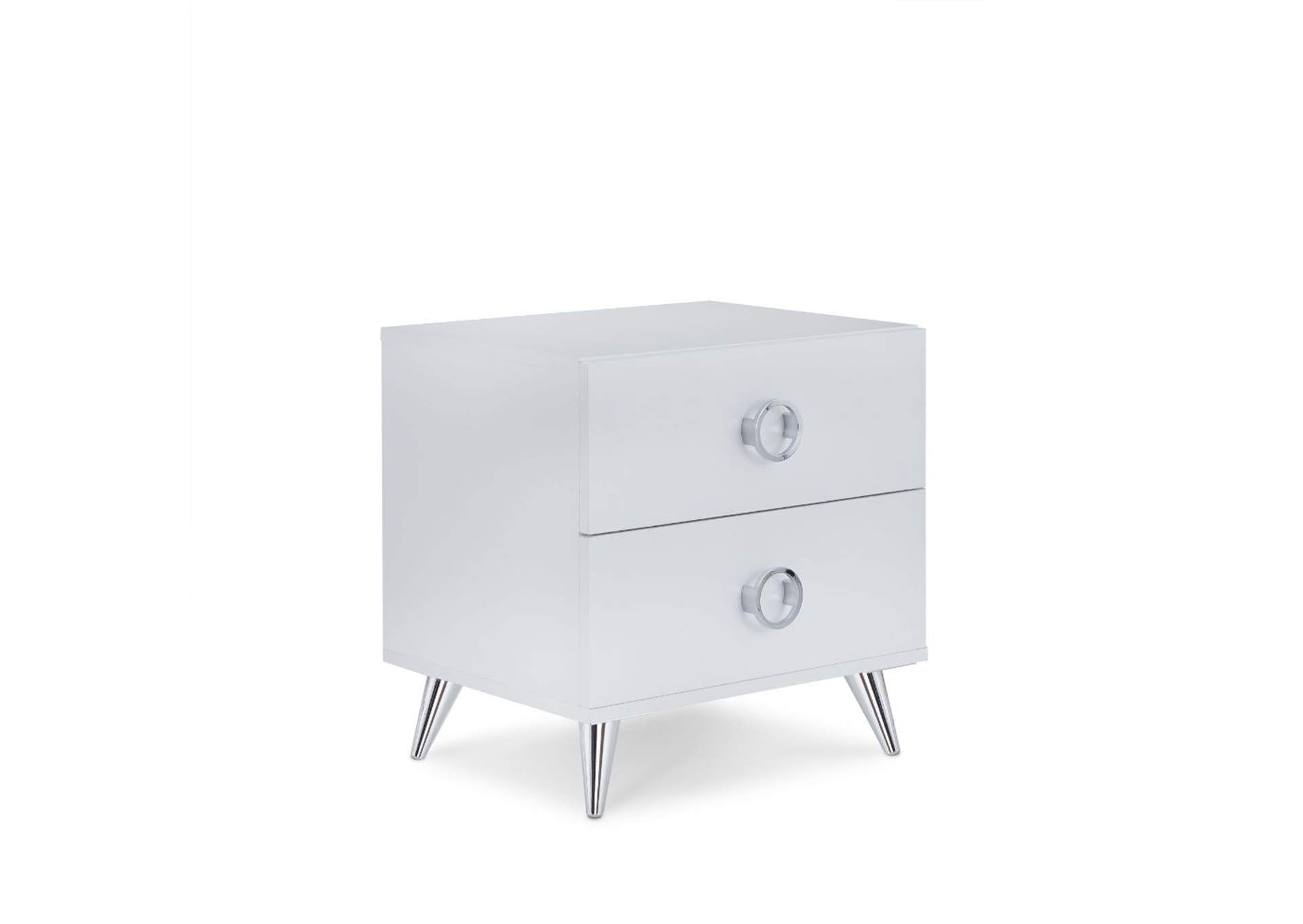 Elms White Accent Table,Acme