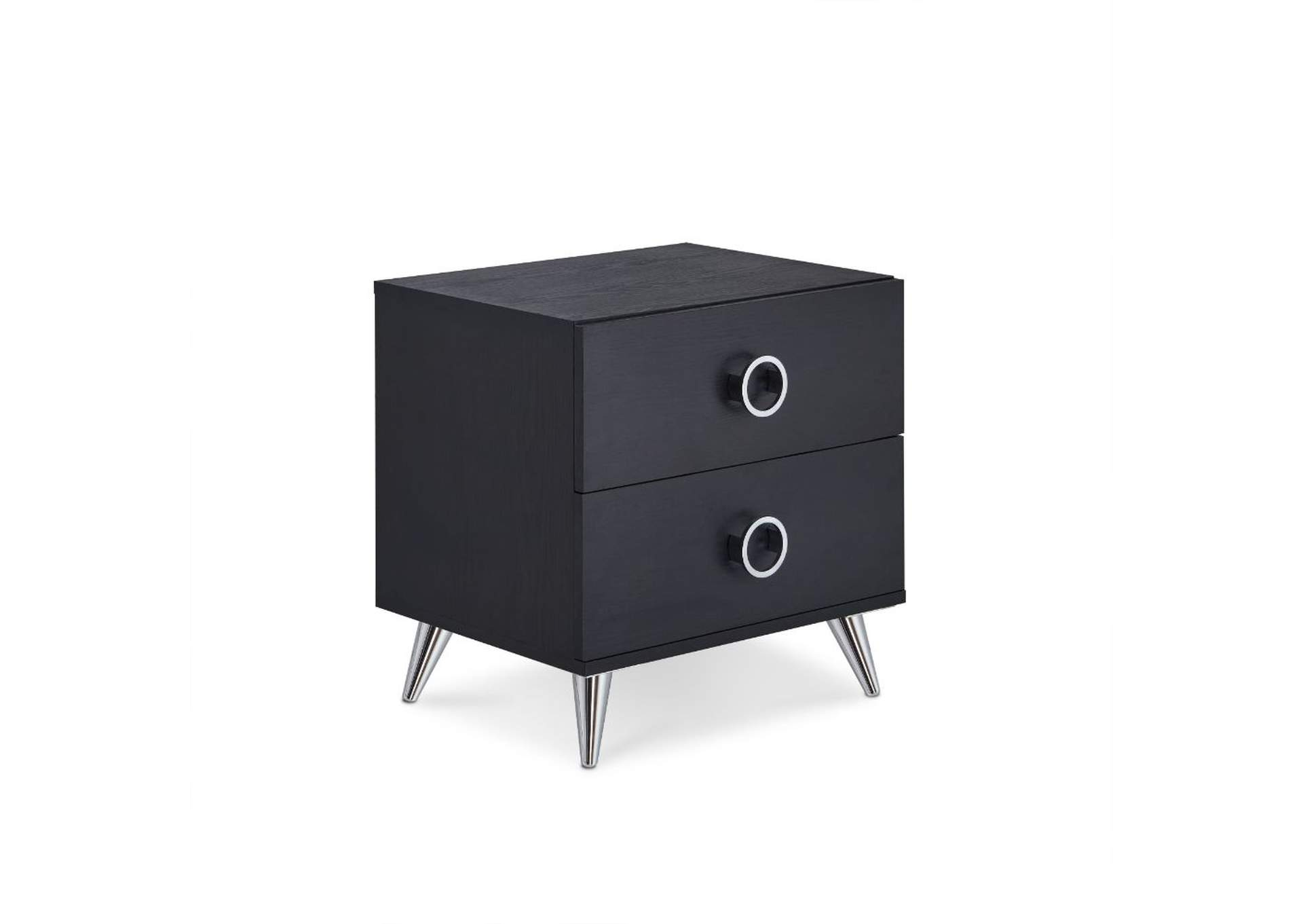Elms Black Accent Table,Acme