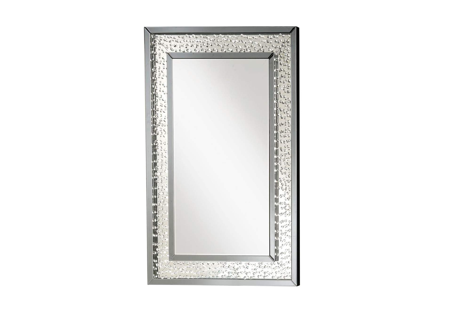 Nysa Mirrored & Faux Crystals Wall Decor,Acme