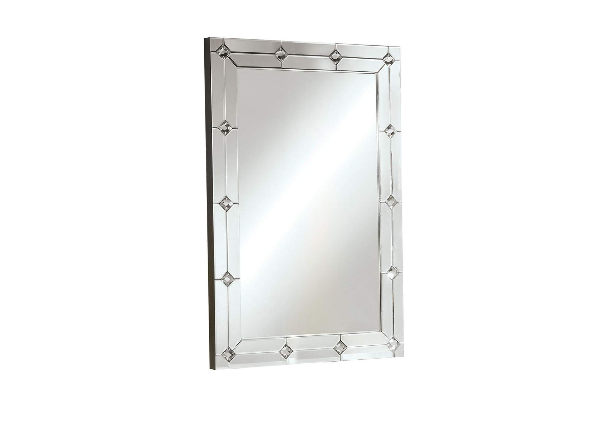 Hessa Mirrored & Faux Rhinestones Wall Decor,Acme