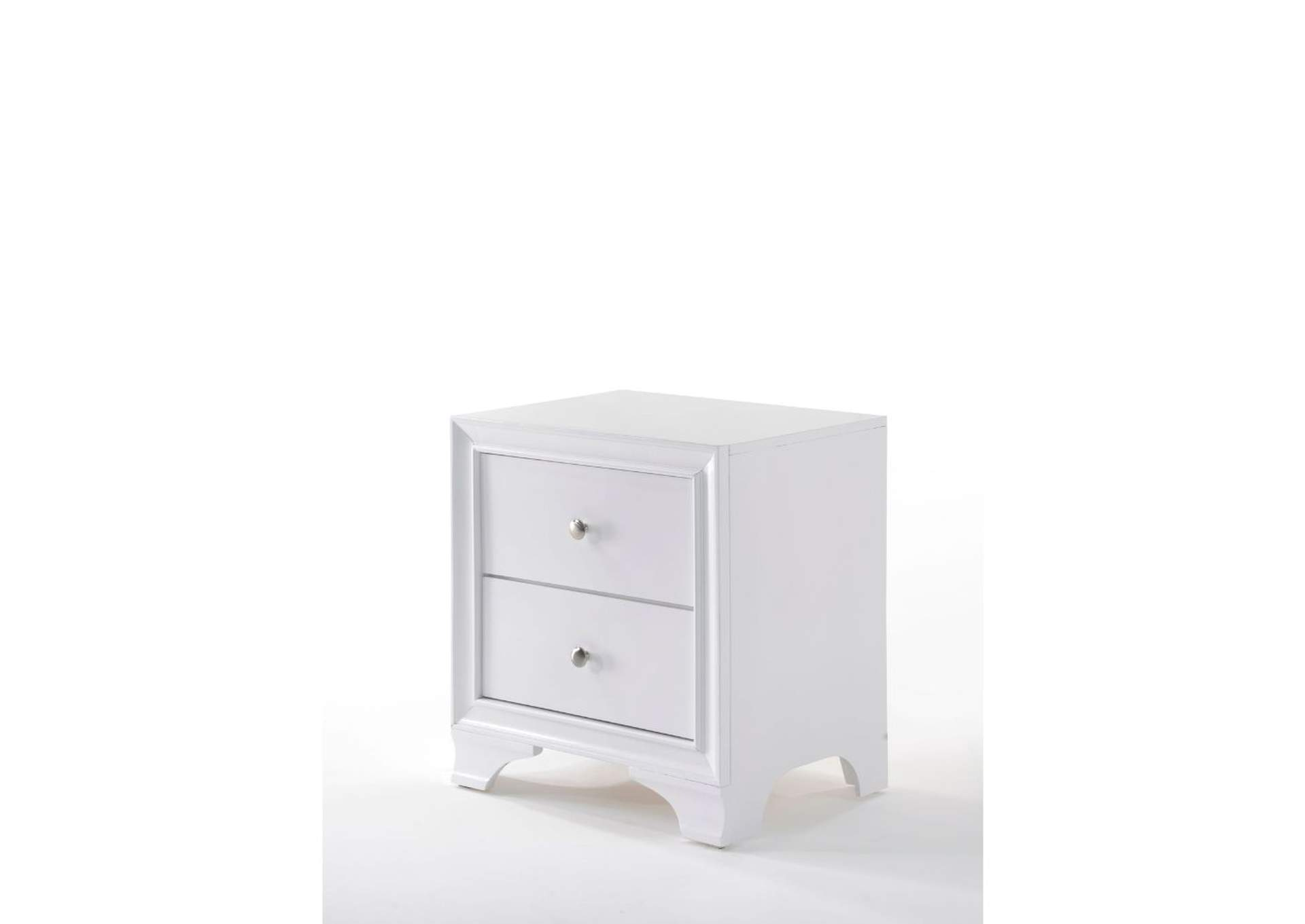 Blaise White Accent Table,Acme