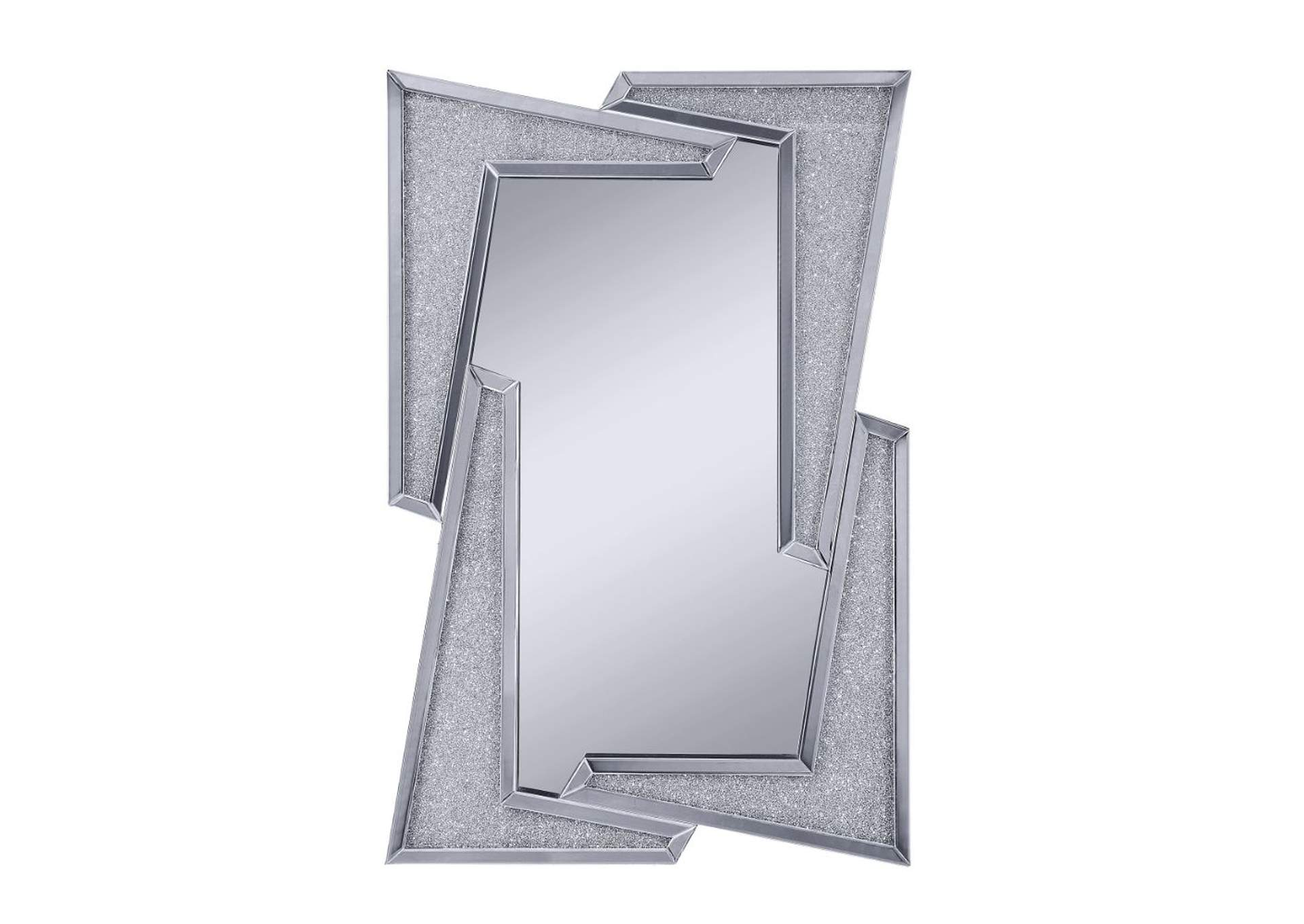 Noralie Mirrored & Faux Diamonds Wall Decor,Acme
