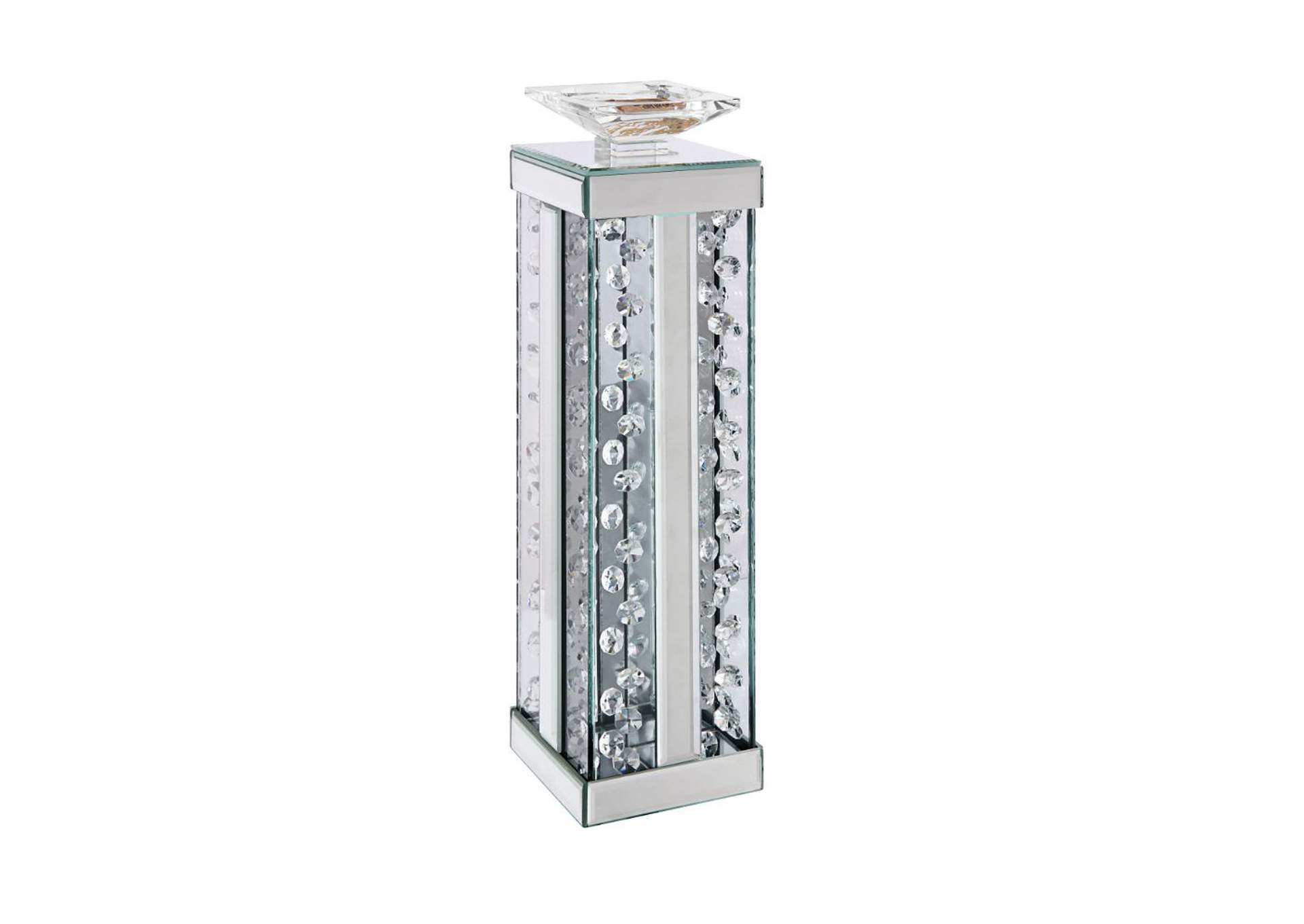 Nysa Mirrored & Faux Crystals Accent Candleholder,Acme