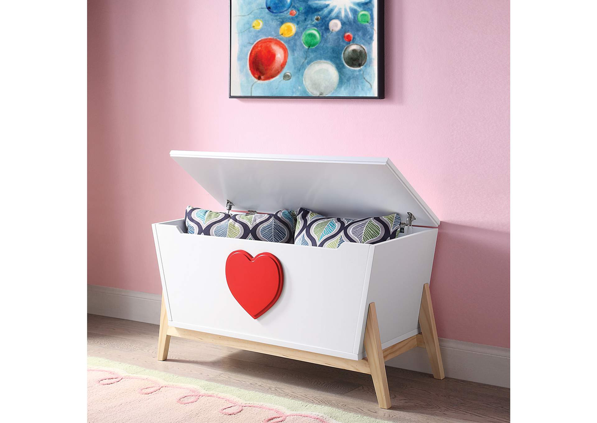 Padma White/Red Youth Chest,Acme