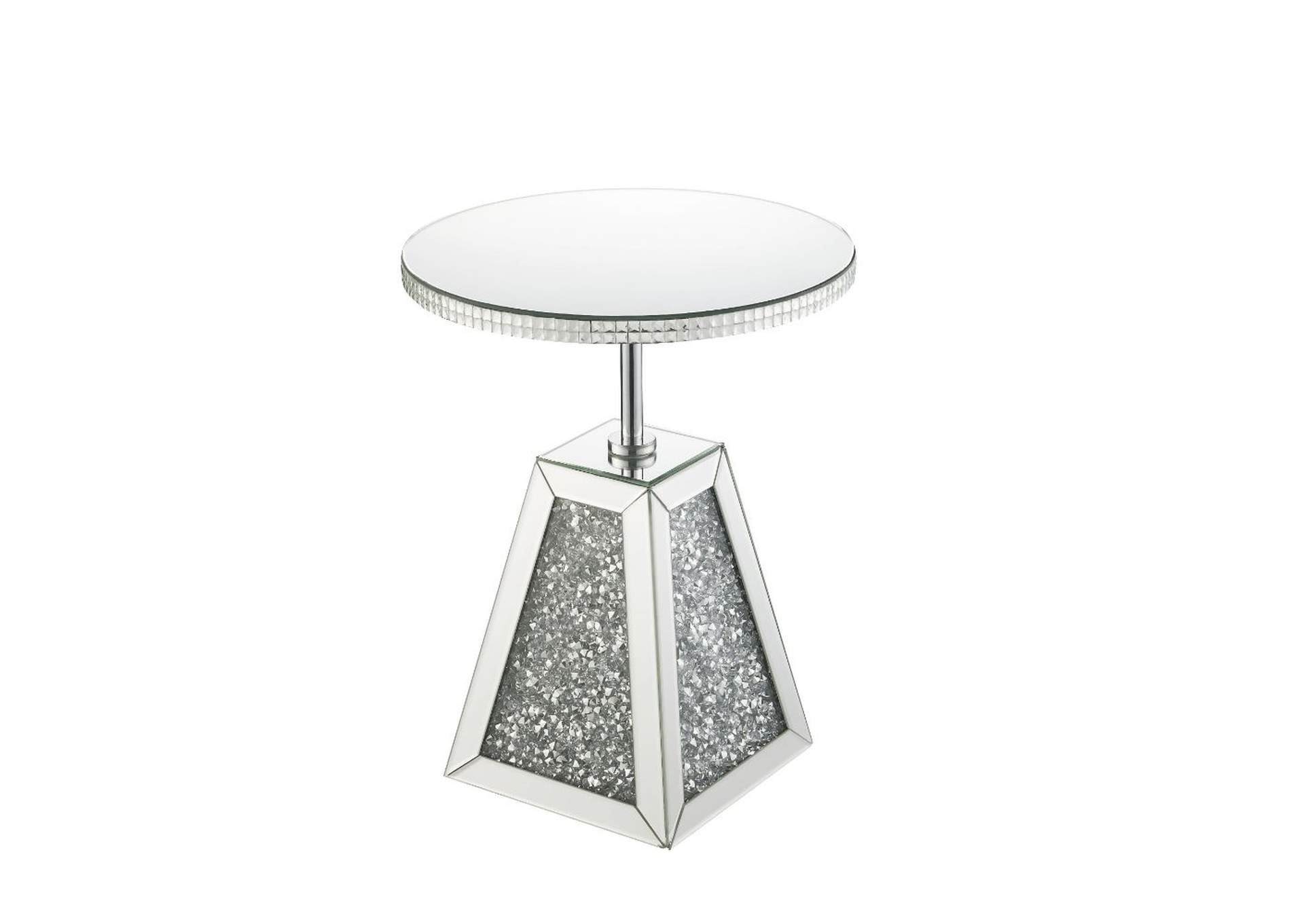 Noralie Mirrored Accent Table,Acme