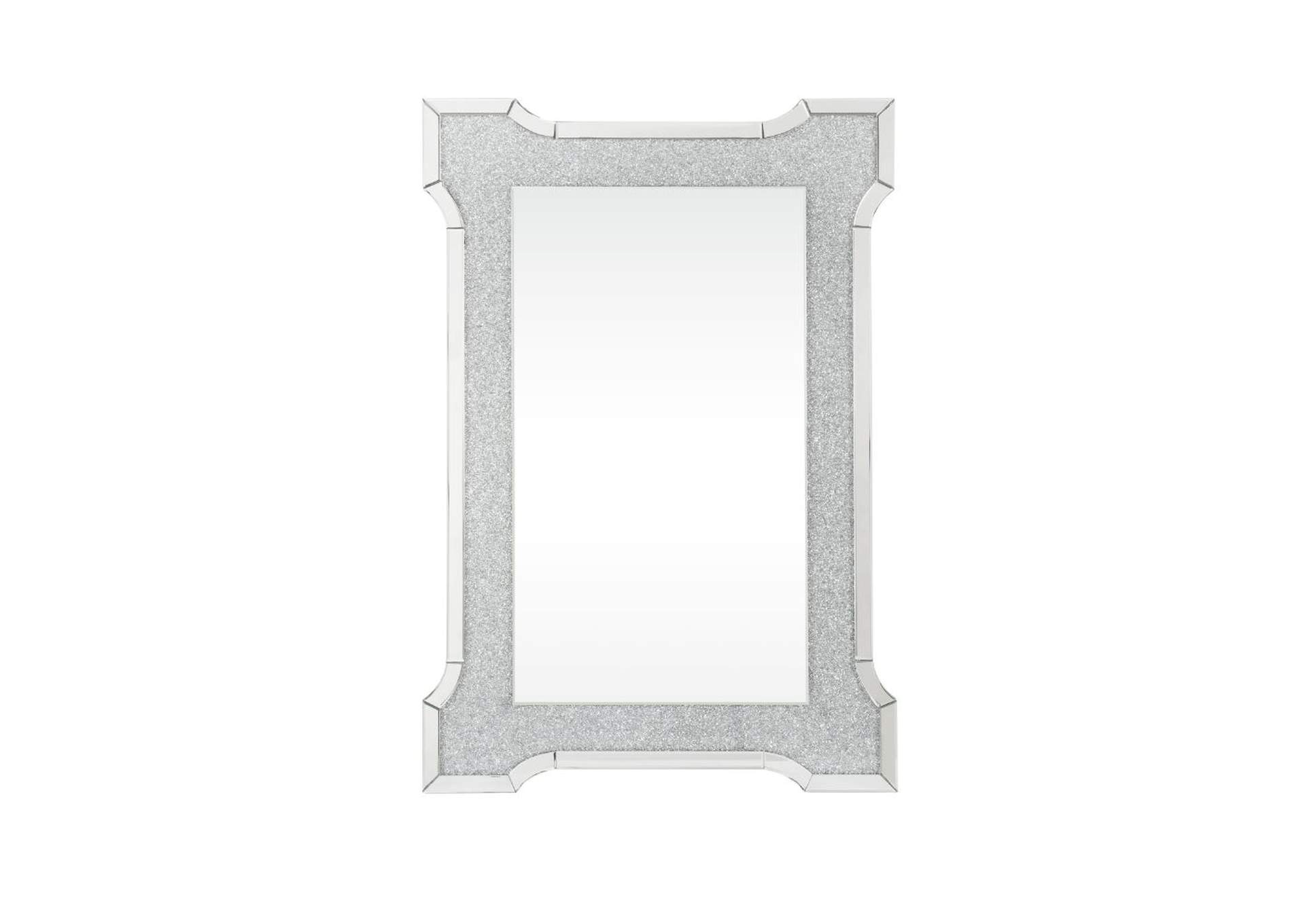 Nowles Mirrored & Faux Stones Wall Decor,Acme