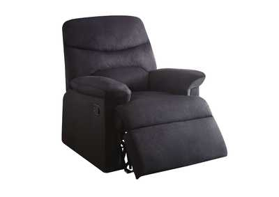 Image for Arcadia Black Recliner (Motion)