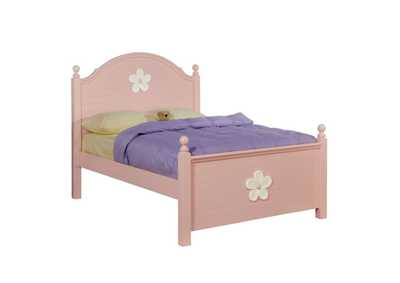 Image for Floresville Pink (White Flower) Twin Bed