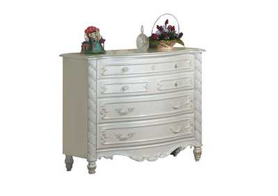 Pearl White/Gold Brush Accent Dresser (Single)