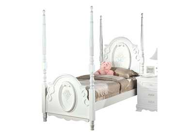 Image for Flora White Twin Bed