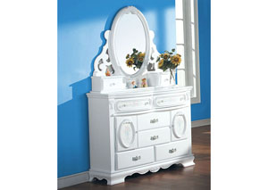 Flora White Dresser (Door),Acme