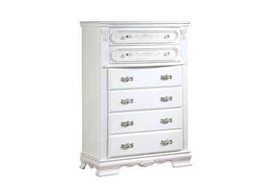 Flora White Chest,Acme