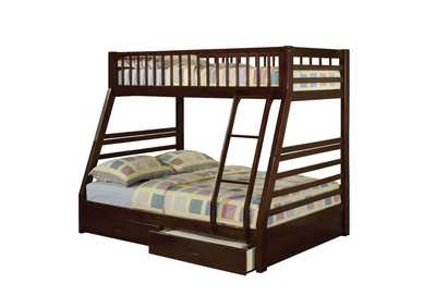 Image for Jason Espresso Twin/Full Bunk Bed w/2 Drw