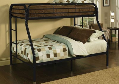 Image for Tritan Black Twin/Full Bunk Bed