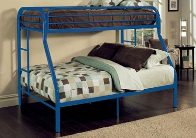 Image for Tritan Blue Twin/Full Bunk Bed