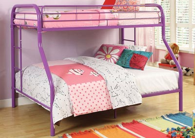 Image for Tritan Purple Twin/Full Bunk Bed
