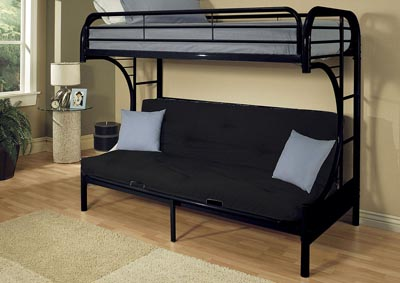 Image for Eclipse Black Bunk Bed (Twin/Full/Futon)