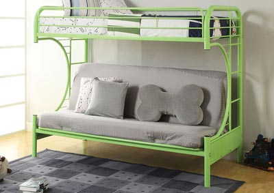 Image for Eclipse Green Bunk Bed (Twin/Full/Futon)