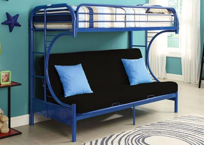 Image for Eclipse Navy Bunk Bed (Twin/Full/Futon)
