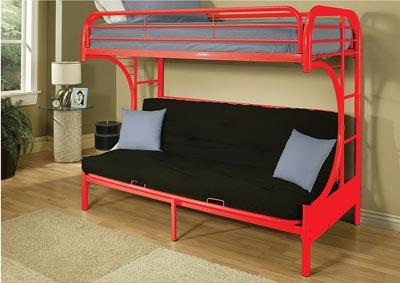 Image for Eclipse Red Bunk Bed (Twin/Full/Futon)