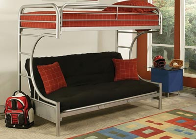 Image for Eclipse Silver Bunk Bed (Twin/Full/Futon)