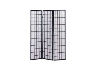 Image for Naomi Black 3-Panel Room Divider