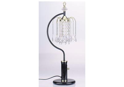 Image for Chandelier Black Crystalline Table Lamp