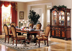 Image for Chateau De Ville Cherry Dining Table w/Double Pedestal
