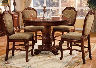 Image for Chateau De Ville Cherry Counter Height Chair (Set-2)