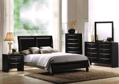 Image for Ireland I Black California King Platform Bed w/Dresser and Mirror