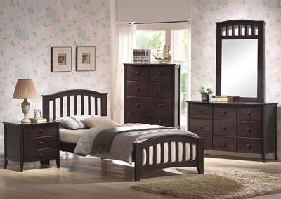 Image for San Marino Dark Walnut Twin Bed