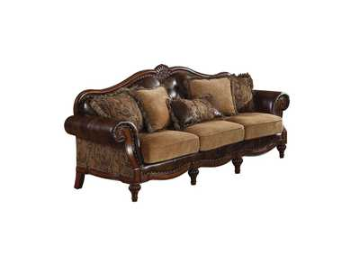 Image for Dreena 2-Tone Brown Loveseat (w/3 Pillows)