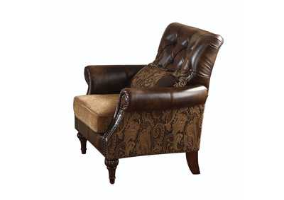 Image for Dreena Two-Tone Brown Chair w/1 Pillow