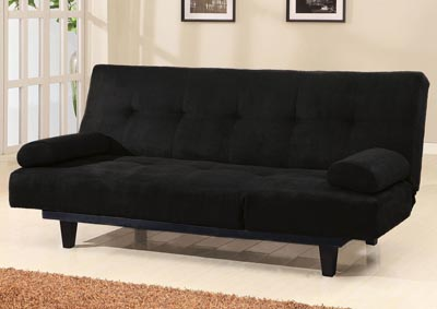 Image for Cybil Black Microfiber Futon
