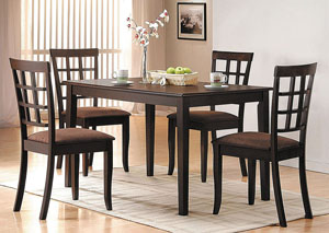 Cardiff Brown Side Chair (Set-2)
